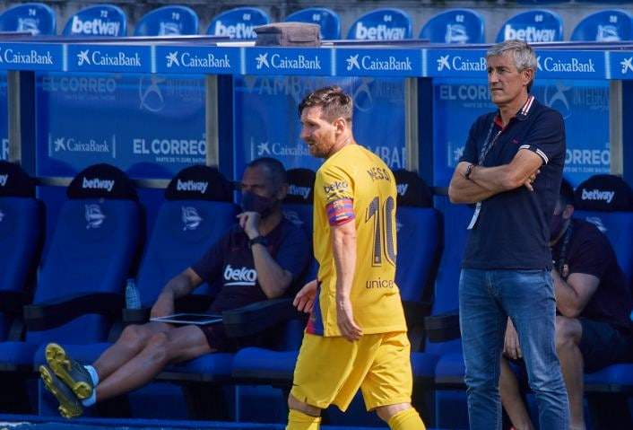 Barcelona manager Setien holds showdown talks with Messi (here is the outcome)