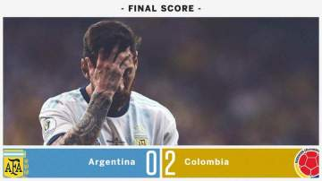 Lionel Messi sends important message to Argentina mates after Colombia's 2-0 defeat
