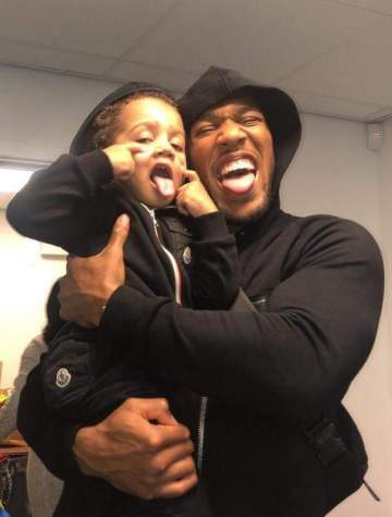 Anthony Joshua posts emotional message to his 3-year-old son and fans are loving him more