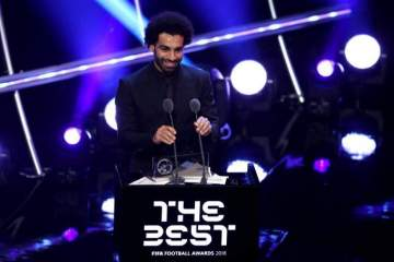 Liverpool star Mohamed Salah beats Ronaldo, Messi, 7 others to win FIFA best goal of the season(see list)