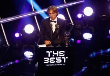 Real Madrid star Luka Modric beats Ronaldo and Salah to win the 2018 FIFA Best award in London
