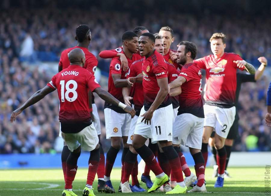 Checkout what Mourinho told Manchester United players while trailing Chelsea at half time