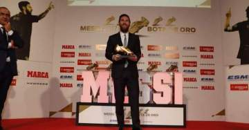 Messi wins record 5th Golden Shoe for top scorer in Europe (photos)