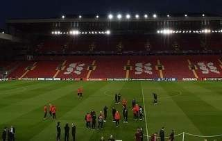 PSG stars look around Anfield ahead of their Champions League tie with Liverpool