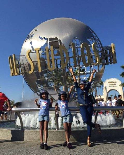 Georgina Onuoha and kids on vacation (Instagram)