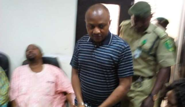 Evans arrives at the Lagos State High Court in Igbosere on October 27, 2017 (The Nation)