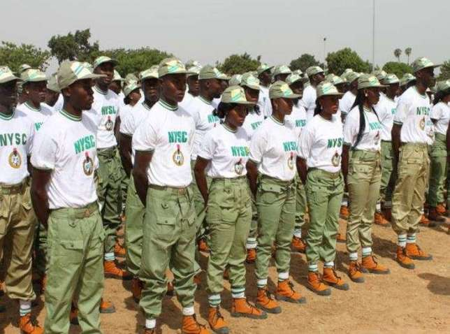 NYSC: Corps members on parade ground (Pinterest)