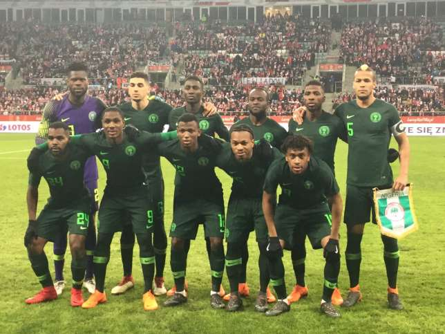 Super Eagles coach, Gernot Rohr says the Nigerian side is yet to become World Cup favourites despite win against Poland. (Twitter)