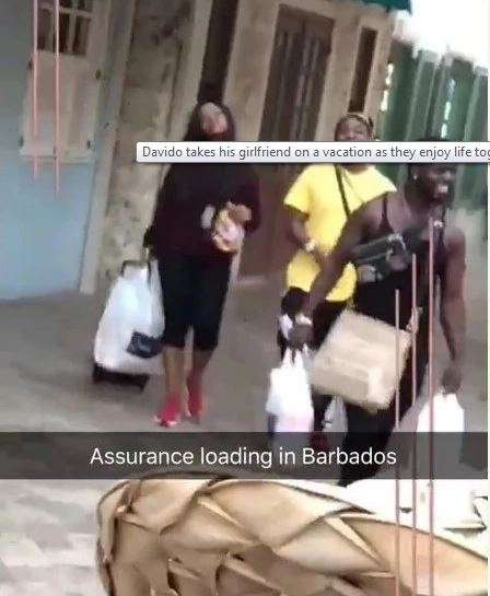 Davido on holiday with Chioma Avril (Instagram)