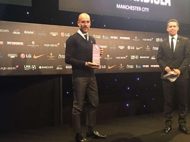 Pep Guardiola also won the LMA Coach of the Year award (Manchester City)