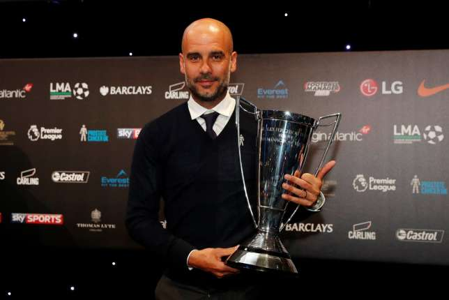 Pep Guardiola voted the best manager in England by his colleagues (League Managers Association)