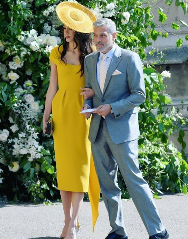 George and Amal Clooney (Instagram/ @whowhatwear)