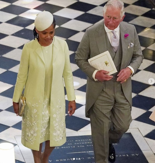 Meghan's Mother Doria Ragland looked beautiful in lime green (Daily Mail)