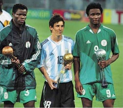 Messi beat Mikel to the golden ball award in 2005