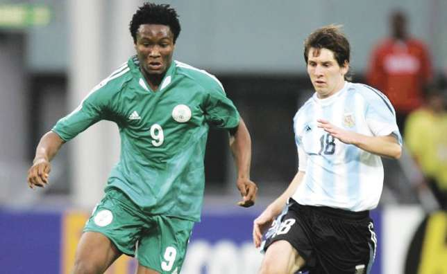 Mikel Obi and Lionel Messi are no strangers to each other (THIS DAY)
