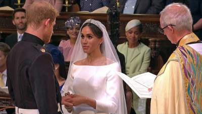 Watch The Romantic Moment As Meghan Markle And Prince Harry Exchange Vows