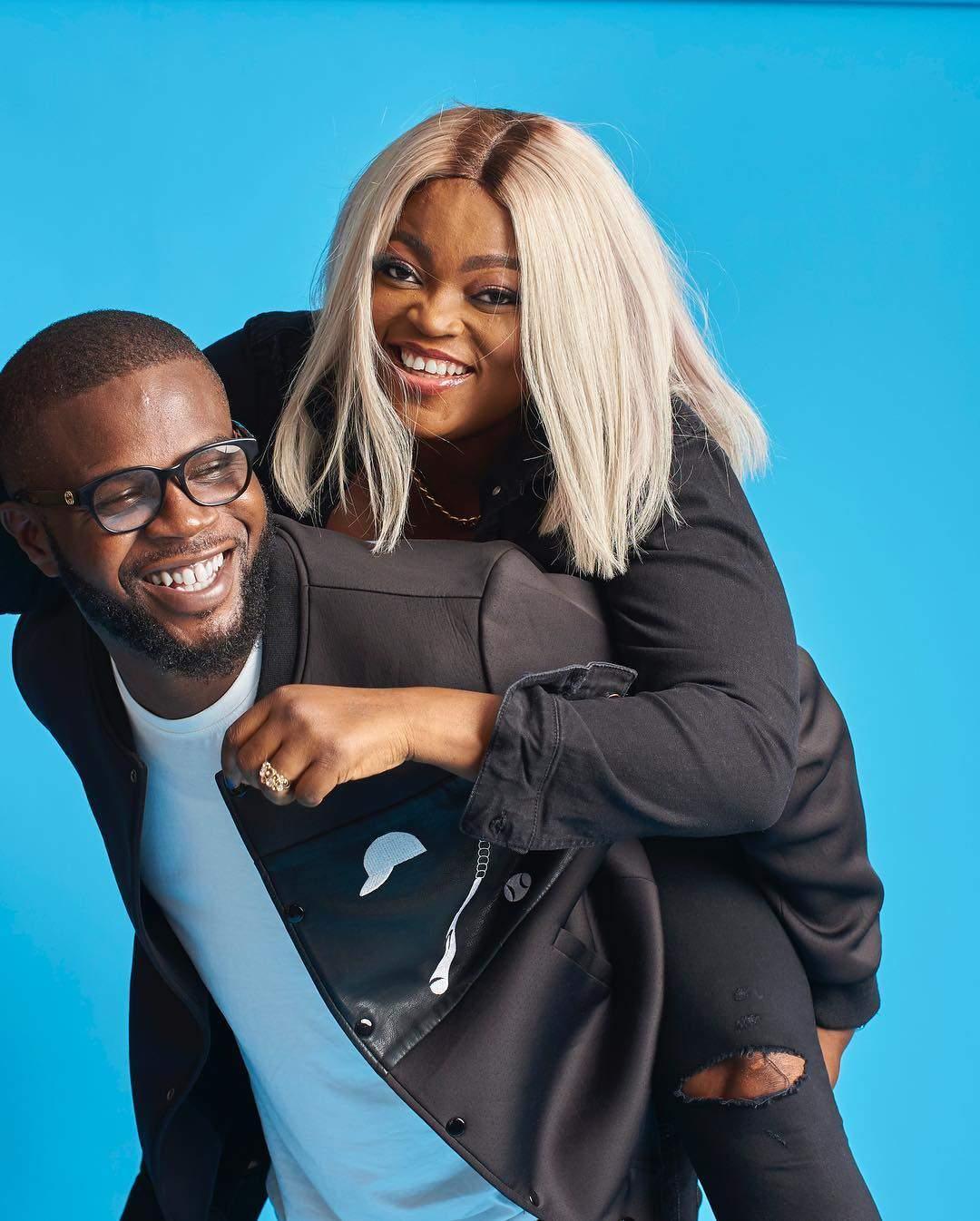 JJC Skillz And Funke Akindele Are Too Cute For Words In Birthday Shoot 1