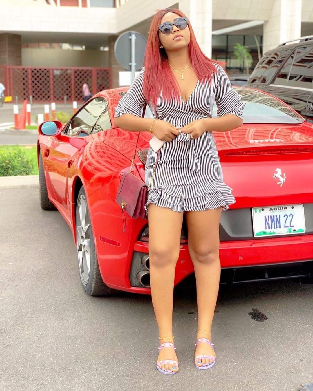 Regina Daniels Ned Nwokos Customized Ferrari