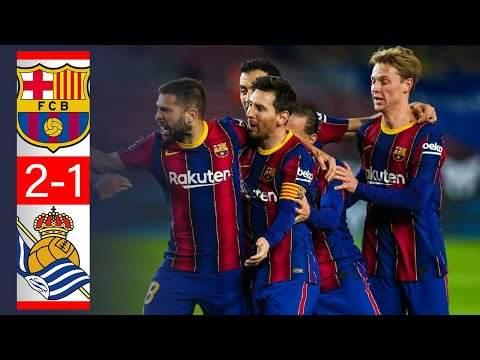 Video: Barcelona 2 - 1 Real Sociedad (Dec-16-2020) LaLiga Highlights