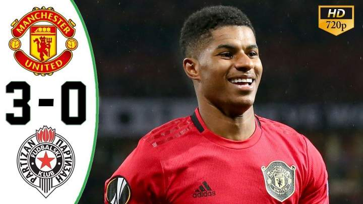 Manchester Utd 3 - 0 Partizan (Nov-07+2019) Europa League Highlights