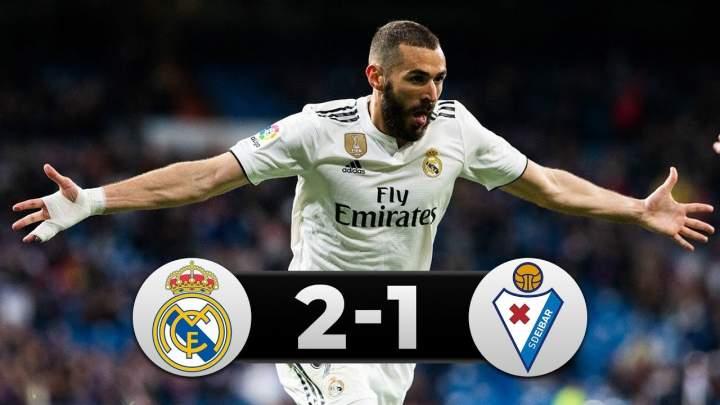 Real Madrid 2 - 1 Eibar (06-APR-2019) La Liga Highlights