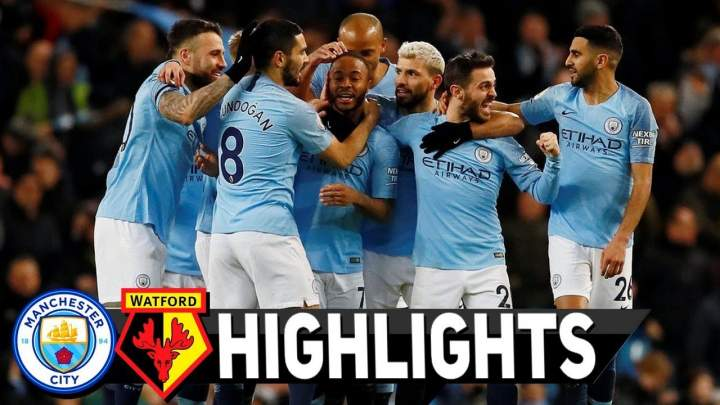 Manchester City 3 - 1 Watford (Mar-09-2019) Premier League Highlights