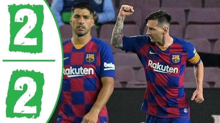 Barcelona 2 - 2 Atl. Madrid (Jun-30-2020) LaLiga Highlights