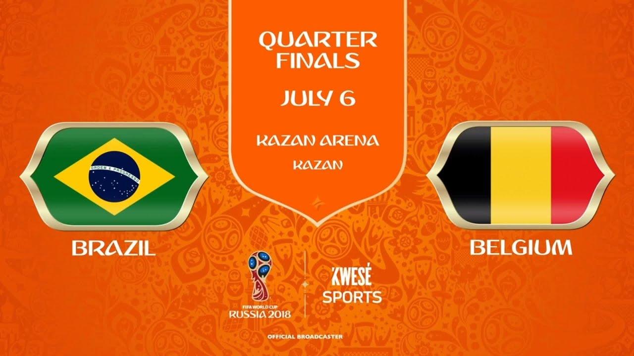 Brazil 1 - 2 Belgium (Jul-06-2018) World cup Highlights