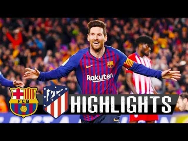Barcelona 2 - 0 Atletico Madrid (06-APR-2019) La Liga Highlights
