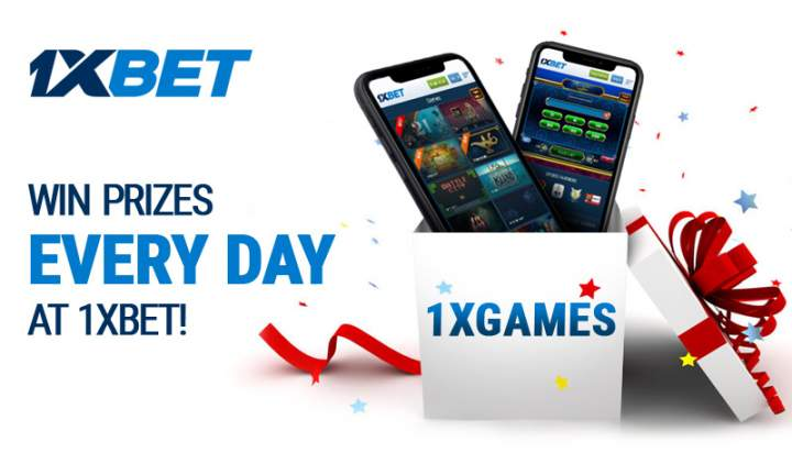 Play games to win prizes each day at 1xBet!
