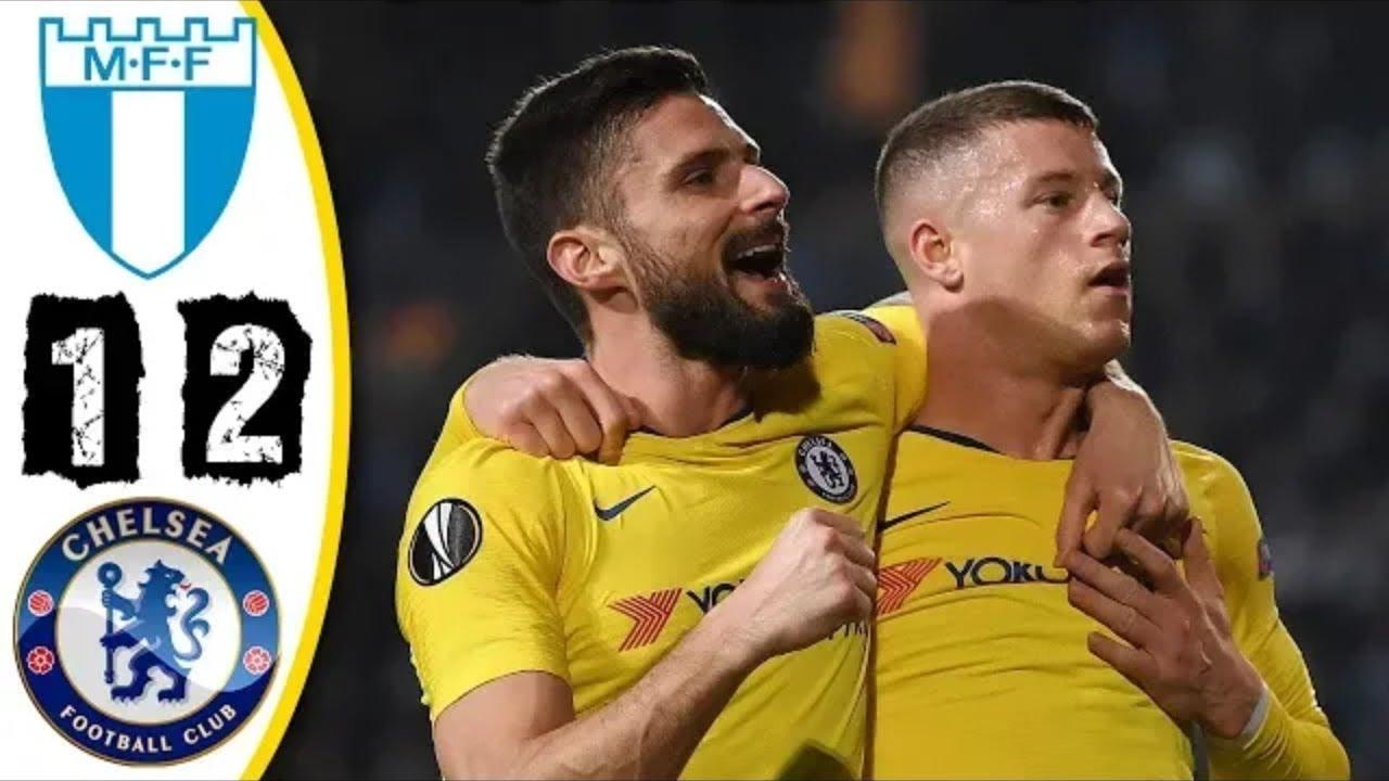 Malmö FF 1 - 2 Chelsea (Feb-14-2019) UEFA Europa League Highlights