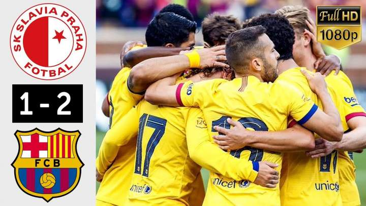Slavia Prague 1 - 2 Barcelona (Oct-23-2019) UEFA Champions League Hightlighs