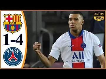 Video: Barcelona 1 - 4 Paris SG (Feb-16-2021) UEFA Champions League Highlights