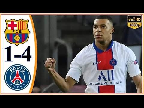 Barcelona 1 - 4 Paris SG (Feb-16-2021) UEFA Champions League Highlights