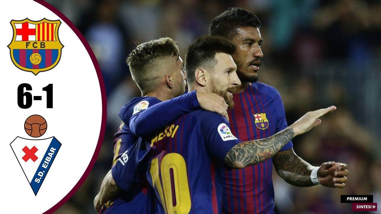 Barcelona 6 - 1 Eibar (Sep-19-2017) La Liga Highlights