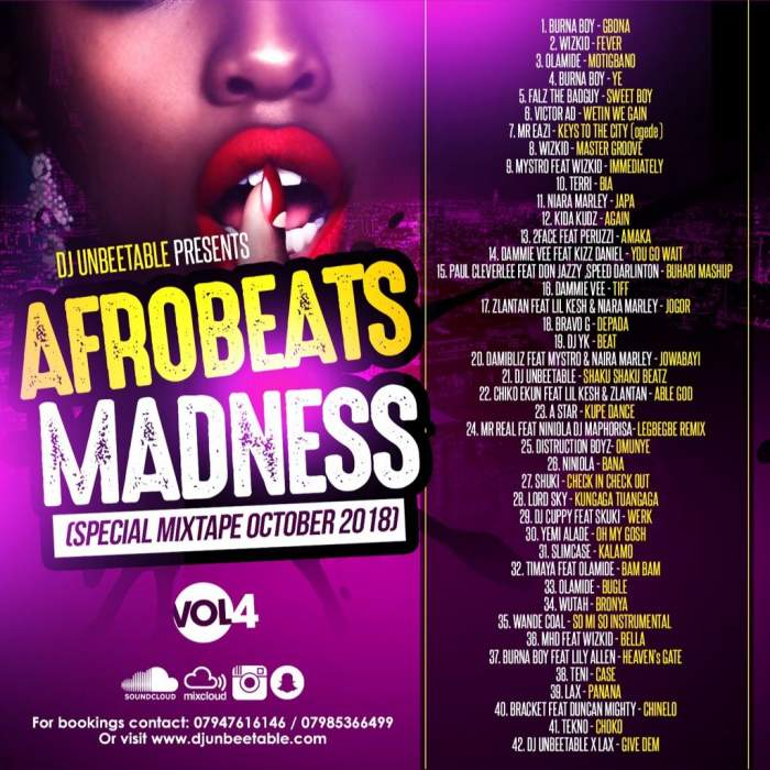 DJ Unbeetable - Afrobeats Madness (Vol. 4)