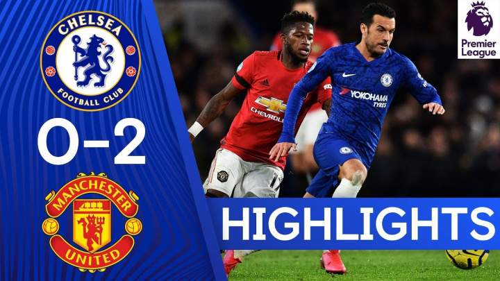 Chelsea 0 - 2 Manchester Utd (Feb-17-2020) Premier League Highlights