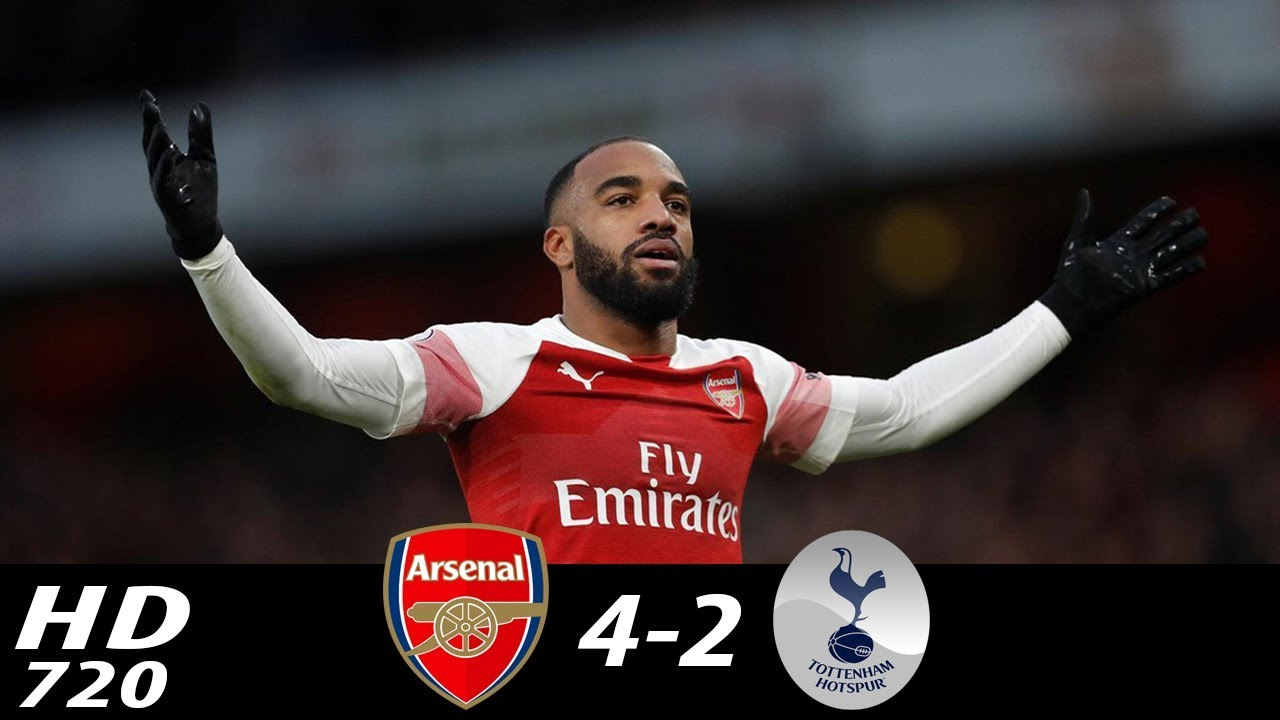 Arsenal 4 - 2 Tottenham Hotspur (Dec-02-2018) Premier League Highlights