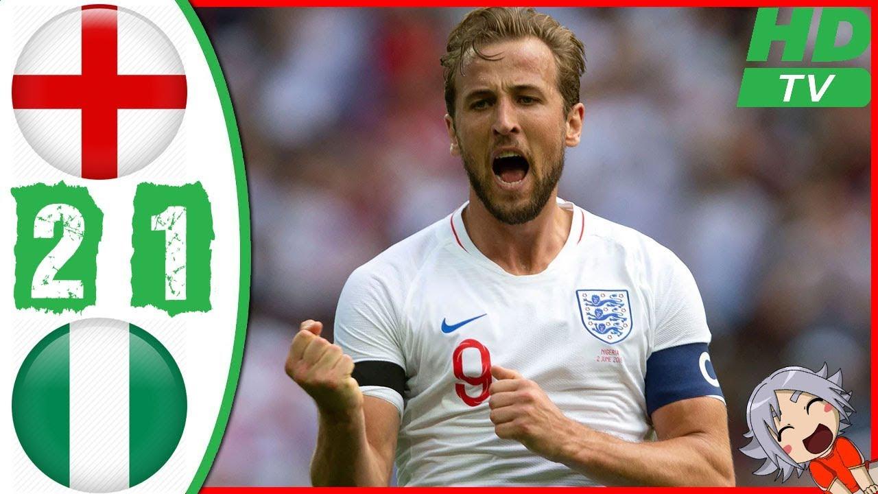 England 1 - 2 Nigeria (Jun-2-2018) Int'l Friendly Highlights