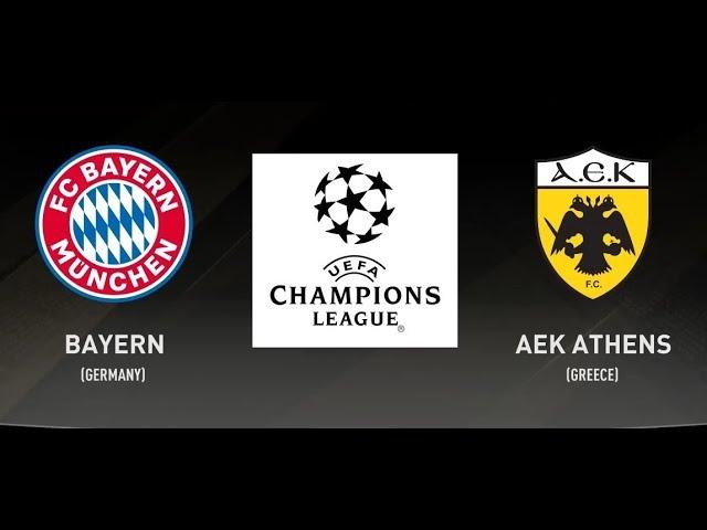 Bayern Munich 2 - 0 AEK Athens (Nov-07-2018) Champions League Highlights