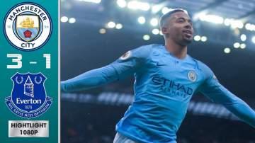 Video: Manchester City 3 - 1 Everton (Dec-15-2018) Premier League Highlights
