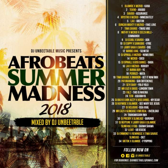 DJ Unbeetable - Afrobeats Summer Madness (Vol. 2)