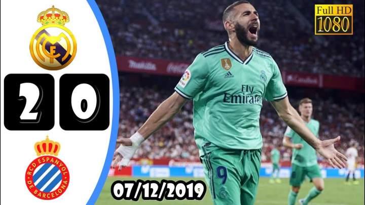 Real Madrid 2 - 0 Espanyol (Dec-07-2019) LaLiga Highlights