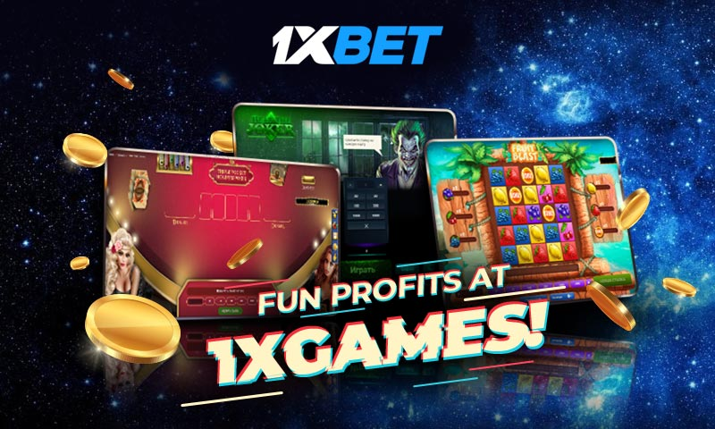 Enjoy 1xGames for Big Wins and Unlimited Rewards only at 1xBet!
