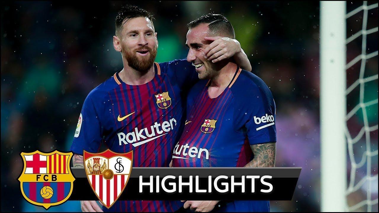 Barcelona 6 - 1 Sevilla (Jan-30-2019) Copa del Rey Highlights