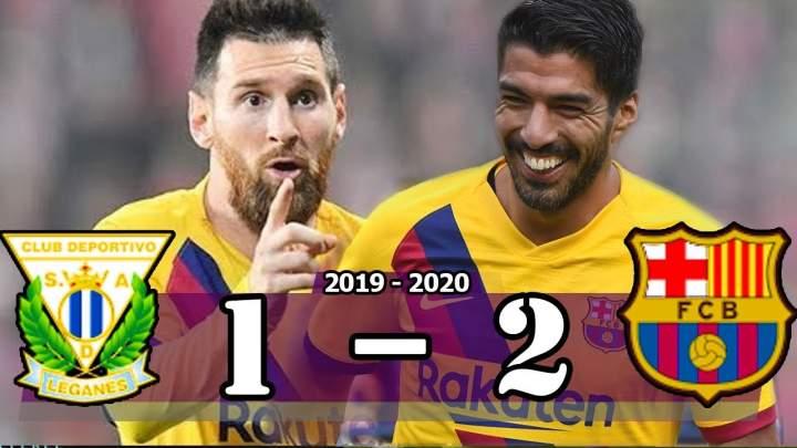 Leganes 1 - 2 Barcelona (Nov-23-2019) LaLiga Highlights