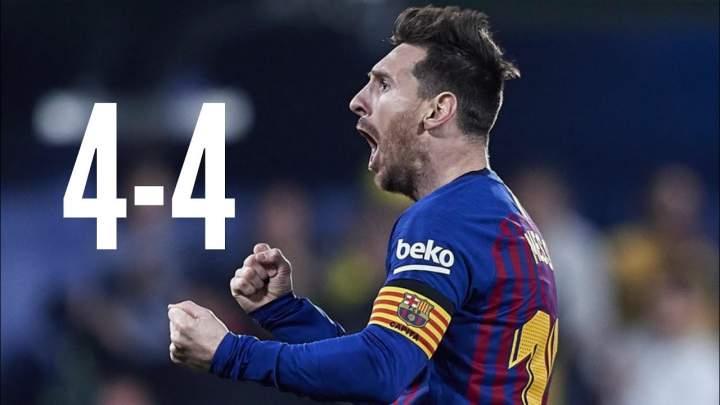 Villarreal 4 - 4 Barcelona (02-Aug-2019) La Liga Highlights