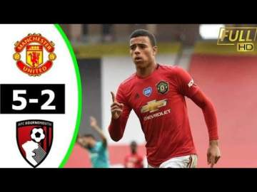 Video: Manchester Utd 5 - 2 Bournemouth (Jul-04-2020) Premier League Highlights