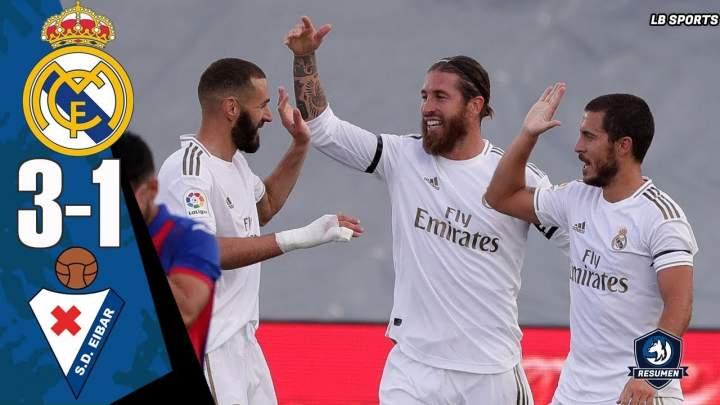 Real Madrid 3 - 1 Eibar (Jun-14-2020) LaLiga Highlights