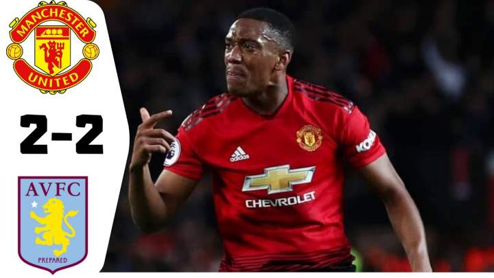 Manchester Utd 2 - 2 Aston Villa (Dec-01-2019) Premier League Highlights